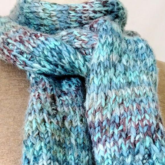 Accessories Handmade Skinny Knit Scarf Hundredsofscarves Poshmark
